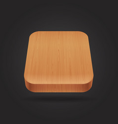 Wooden icon on the black background vector