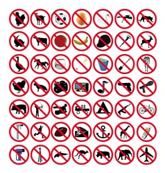 Prohibited signs vector