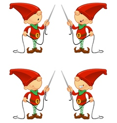 Red elf needle thread vector