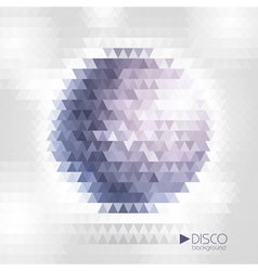 Disco ball mosaic background vector