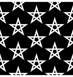 Pentagram button seamless pattern vector