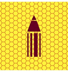 Pencil icon symbol flat modern web design with vector
