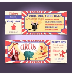 Circus retro tickets vector