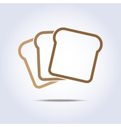 Toast icon vector