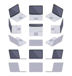 Isometric gray laptop vector