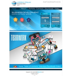 Modern website template with flat style vector