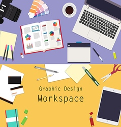 Graphic design workspace vector