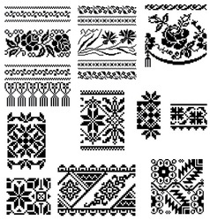 Cross stitch pattern 2 vector