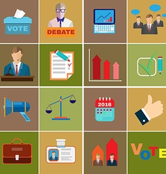 Elections themed icons vector