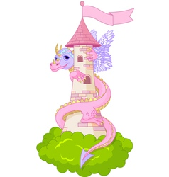 Dragon tower vector