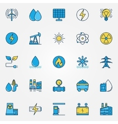 Industrial colorful icons vector