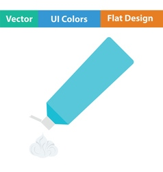 Toothpaste tube icon vector
