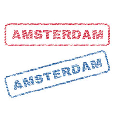 Amsterdam textile stamps vector