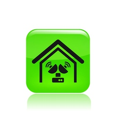 antenna home icon vector image vector image