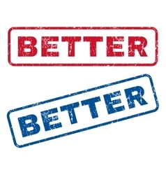 Better rubber stamps vector
