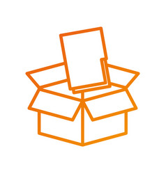 Box with folder file storage secure information vector