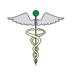 caduceus medical health care symbol vector image vector image
