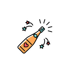 Champagne bottle colorful icon champagne bottle vector