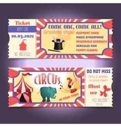 Circus retro tickets vector