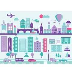 city modern elements set vector image