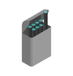 E-cigarettes with a box icon isometric 3d style vector