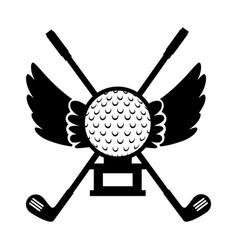 golf ball emblem elegant vector image