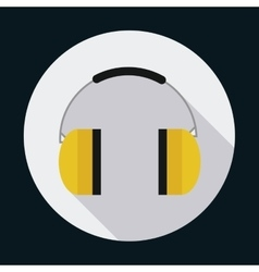 Headphone industrial security safety icon vector