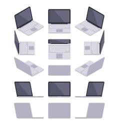 Isometric gray laptop vector image