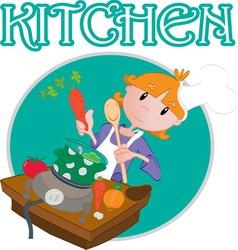 kitchen1 vector image vector image