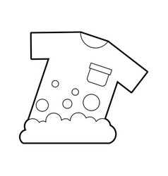 Laundry garments washing icon vector