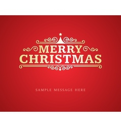 Merry Christmas message and ornament decoration vector image