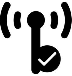 mobile smart phone hotspot icon vector image