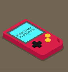Old gadget isometric flat eps10 vector