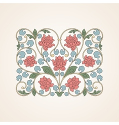 Ornamental floral element for design in China vector image vector image