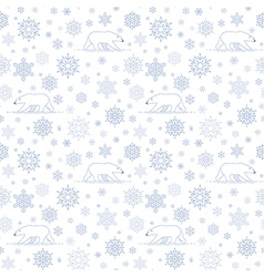 Pattern snow polarbear white vector