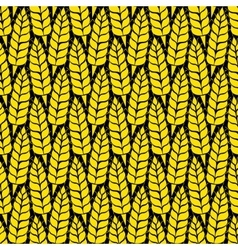 Pattern with grains and wheat vector