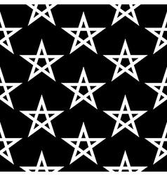 Pentagram button seamless pattern vector