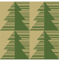 Printed fir tree on a brown paper vector image