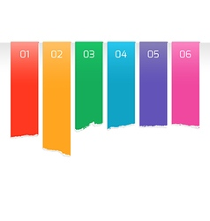 Rainbow color labels vector image vector image