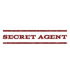 Secret agent watermark stamp vector