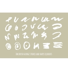 set of grunge abstract symbols brush vector image