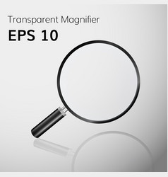 transparent magnifying glass realistic vector image
