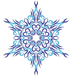 tribal ornament in the shape of snowflakes vector image