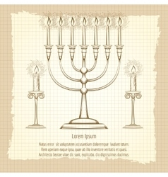 Vintage poster with candles vector image