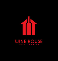 wine house logo vector image vector image