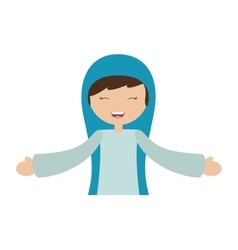 Virgin mary character isolated icon vector