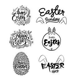 Easter art set vector