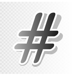 hashtag sign   new year vector image
