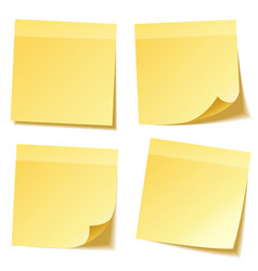 Sticky note with shadow isolated on transparent vector