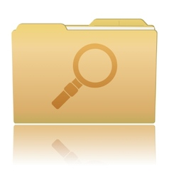 Folder with magnifier vector